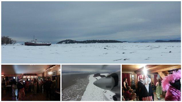 Photographies prises lors de la visite de notre journaliste à l'Isle-aux-grues à l'occasion des festivités de la mi-Carême.