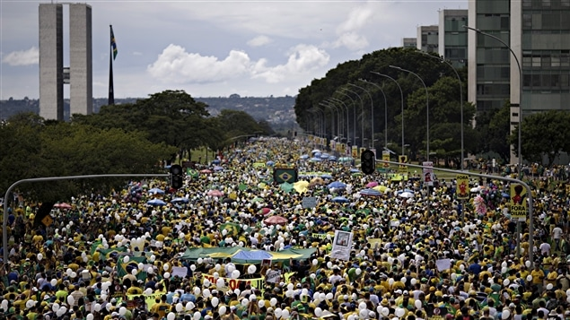 Manifestación antigubernamental en Brasil, 13 de marzo 2016.
