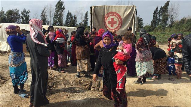La Croix Rouge canadienne dans un camp de réfugiés au Liban