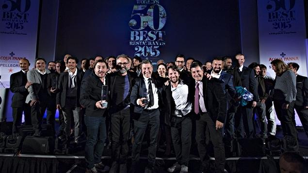 Les chefs et propri�taires gagnants du guide <i>The World's 50 Best Restaurants</i> en 2015