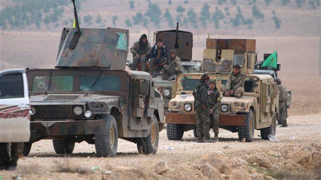 مقاتلون أكراد في سوريا (أرشيف)