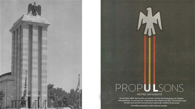 Le pavillon allemand de 1937 et la publicité de l'Université Laval