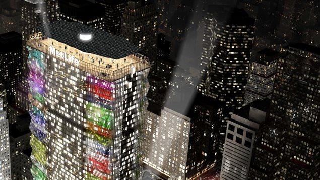 Proposition du groupe d'architecture Lemay pour le nouvel édifice du MetLife.