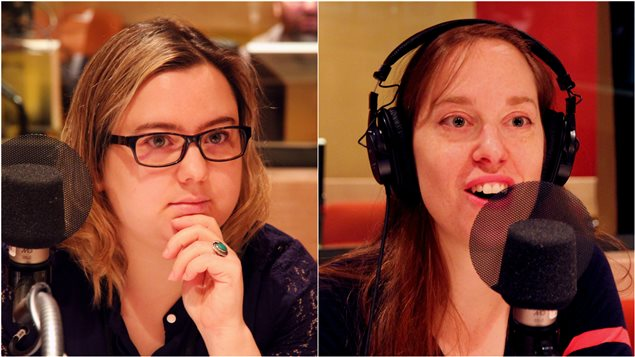 Les journalistes Myriam Daguzan Bernier et Lili Boisvert