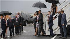 L'arrivée de Barack Obama et de sa famille à Cuba.