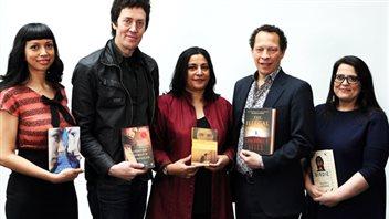 最终入选的5部小说与作家。