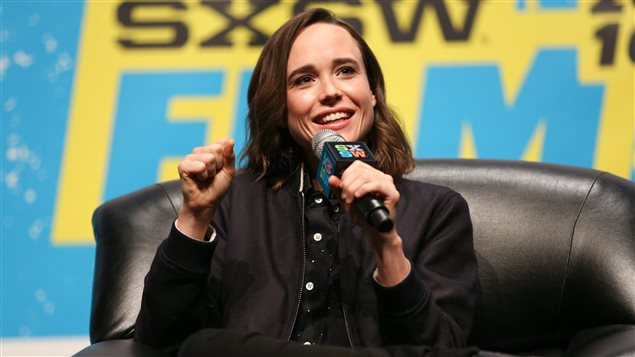 Canadian actress Ellen Page discussed her Viceland travelogue 'Gaycation' at AOL Studios in New York on March 9, 2016.