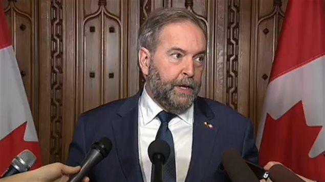 Thomas Mulcair, chef du Nouveau Parti démocratique
