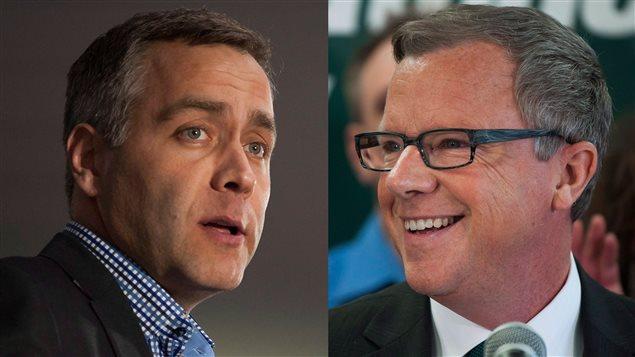 Le chef du NPD Cam Broten a perdu son siège. Le premier ministre Brad Wall a été réélu dans sa circonscription avec 80 pour cent des votes