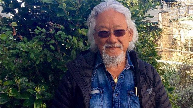 David Suzuki sur la terrasse de sa fondation à Vancouver.