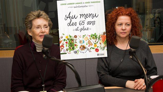 Les nutritionnistes Jos�e Thibodeau et Louise Lambert-Lagac�