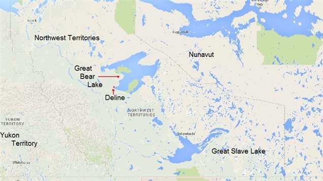 Great Bear Lake is the eighth largest lake in the world, and remains pristine. the only permanent human settlement is the small Dene aboriginal community of Deline, which is working to establish environment and development guidelines under the combined pressures of climate change and mining interests.