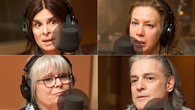 De gauche à droite et de haut en bas : Guylaine Tremblay, Céline Bonnier, Johanne Seymour et Michel Poirier