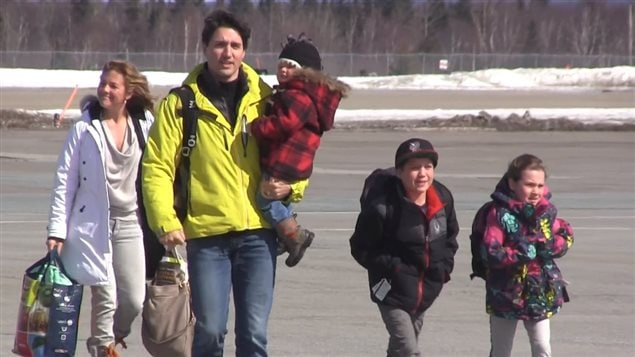 La famille Trudeau à Terre-Neuve