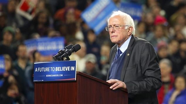 Le candidat démocrate Bernie Sanders