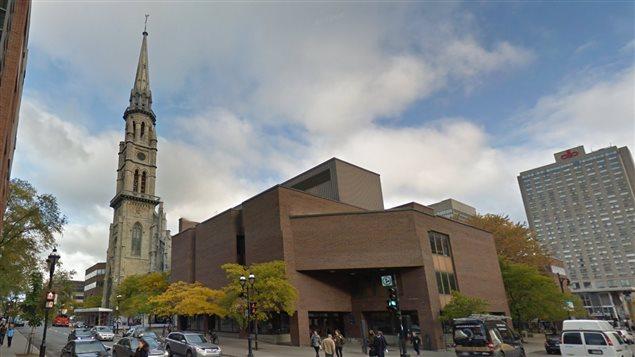 Le clocher de l'Université du Québec à Montréal est intégré au pavillon Judith-Jasmin.