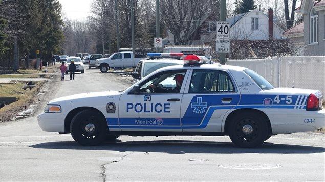 Vehículo de la policía de Montreal.