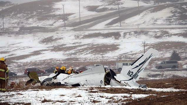 L'avion s'est écrasé à environ 1 km au nord de l'aérioport des Îles-de-la-Madeleine