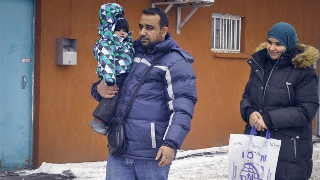 Une famille de réfugiés syriens s'installe au Québec