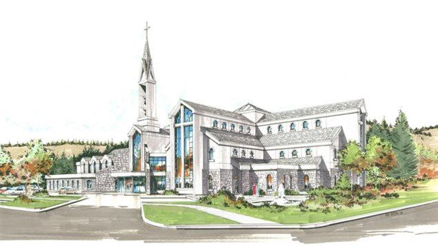 Un aperçu de la prochaine église catholique à Canmore. Les plans ont été conçus par le bureau d'architecte Ron Boruk Architect.