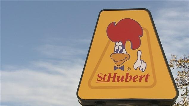 Le logo des rôtisseries St-Hubert