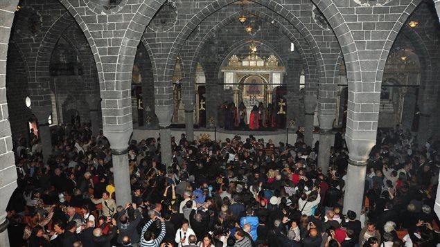Inaugural liturgy at the St. Giragos Armenian church in Diyarbakir, Turkey. Nov. 4, 2012