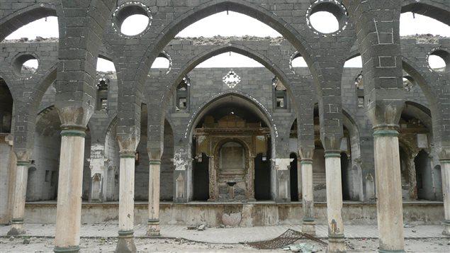 Ruins of the St. Giragos Armenian church in Diyabakir, Turkey, before the church was restored in 2011.