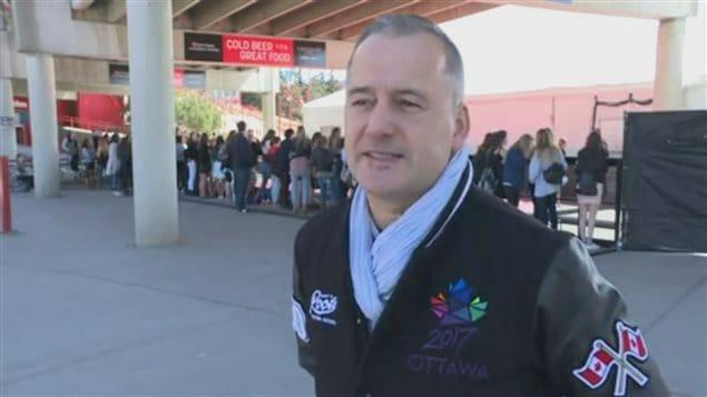 Guy Laflamme, directeur général d'Ottawa 2017 et président du comité hôte des Prix Juno