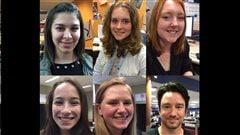 Les cinq participantes albertaines de l'édition  de Jeun'Info