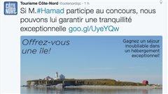 Tweet publié par Tourisme Côte-Nord.