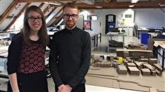 Maude Masson et Jonathan Levesque, étudiants à la maîtrise à l'école d'architecture de Québec.