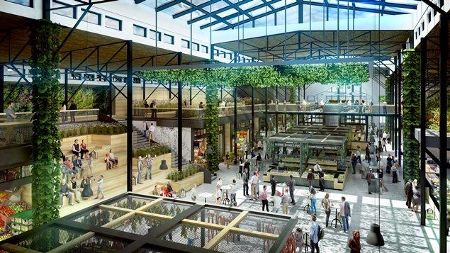 Un aperçu du futur marché public qui sera établi sur le site d'ExpoCité