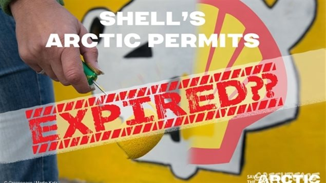 Greenpeace says Shell exploration permits expired in 1979 but they have using them as bargaining chips with the federal and territorial government as bargaining chipsfor compensation in the government desire to create a northern marice conservation area