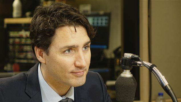 Le premier ministre du Canada Justin Trudeau dans le studio de Gravel le matin