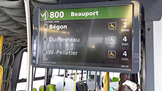 Le Réseau de Transport de la Capitale est doté de la technologie en temps réel.