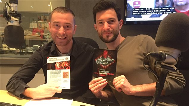 Florian François et Cyril Mignotet, fondateurs de Franc'Open Mic.