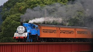 2014: How internationally popular is Thomas and Friends? The Japanese National Railway dressed one of their old steam locomotives (Class-11-C) to resemble Thomas, and it has been extremely popular