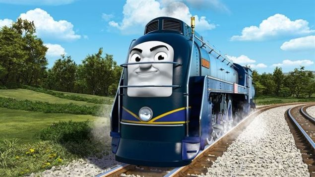 The new Canadian charachter in the upcoming Thomas and Friends movie...but perhaps more American than Canadian?