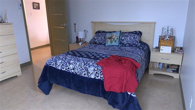 Chambre à coucher. L'Entre-Temps dispose de 6 appartements pour femmes et enfants victimes de violence conjugale