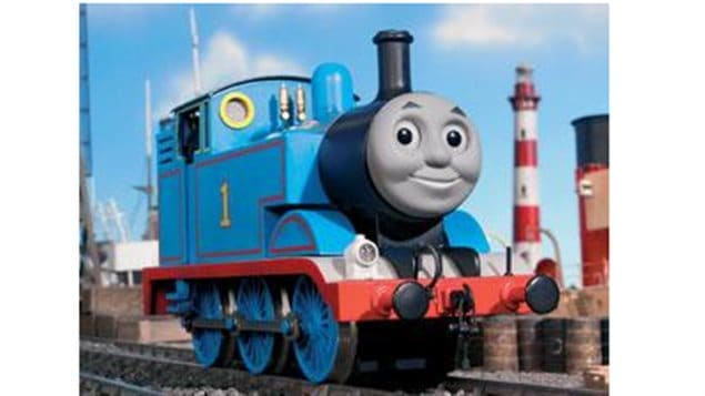 Thomas the Tank Engine. Thomas and Friends is a very popular children's shos syndicated world-wide.
