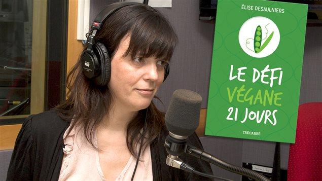 Élise Desaulniers, auteure du livre <em>Le défi végane 21 jours</em>