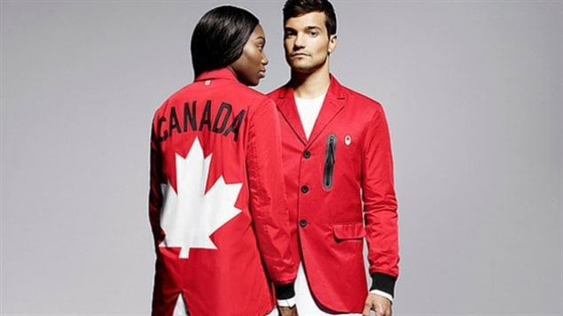 The Canadian Olympic Committee on Tuesday night presented the team uniforms that its athletes will wear at August's Summer Games in Rio de Janeiro, Brazil. The opening ceremony look includes a red jacket fashioned from the blend of a windbreaker and tailored blazer, featuring flap pockets.