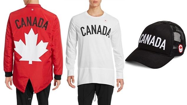 Quelques-uns des vêtements que porteront les athlètes d'Équipe Canada lors des Jeux olympiques de Rio