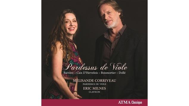 Pochette de l'album <i>Pardessus de viole</i> de Mélisande Corriveau et Eric Milnes, paru sous étiquette Atma classique