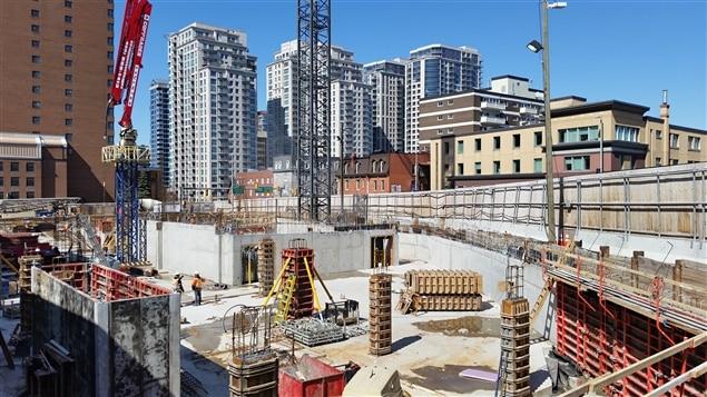 Le chantier de construction de la nouvelle Galerie d'art d'Ottawa (GAO), le 14 avril 2016