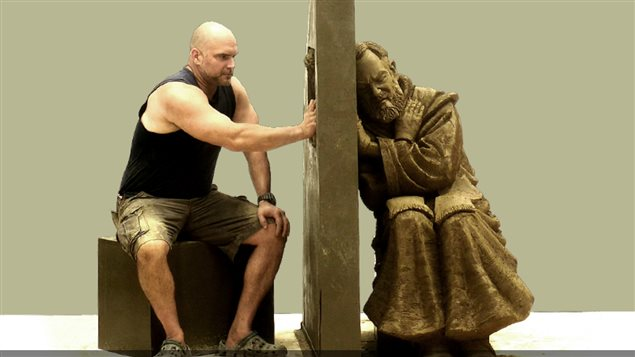 Artist Tim Schmalz and his sculpture and tribute to Padre Pio of Italy