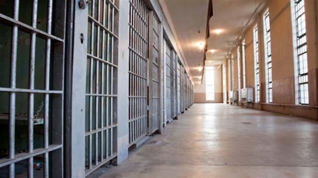 intérieur d'une prison.