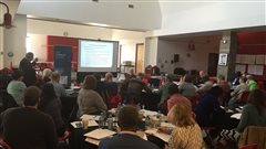 Une cinquantaine de personnes se sont réunies samedi 16 avril pour parler du projet d'infrastructures pour la communauté francophone de Calgary.