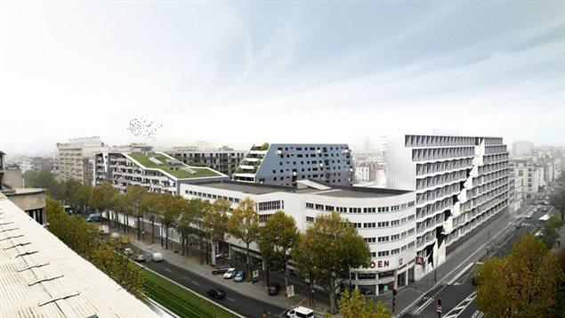 Le programme de 650 logements prévus pour 2017 dans le 14e arrondissement de Paris combine des logements étudiants, sociaux et privés ainsi qu'une garderie, le tout installé sur un dépôt de bus souterrain.