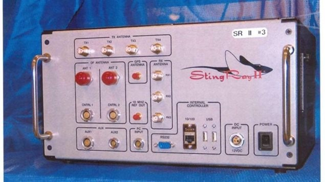 This undated handout photo provided by the U.S. Patent and Trademark Office shows the StingRay II, manufactured by Harris Corporation, of Florida, in the USA., a cellular site simulator used for surveillance purposes it can capture any and all data from your cell phone